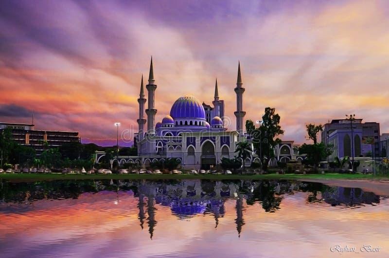 Султан Ahmad Shah Masjid стоковое изображение rf