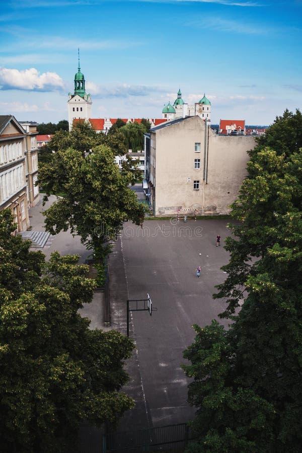 Суд школы Szczecin стоковая фотография