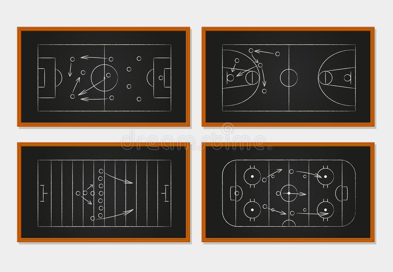 Суды баскетбола, футбола, футбола и хоккея на льде бесплатная иллюстрация