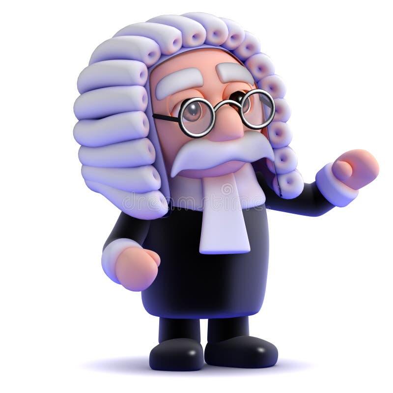 судья 3d иллюстрация штока