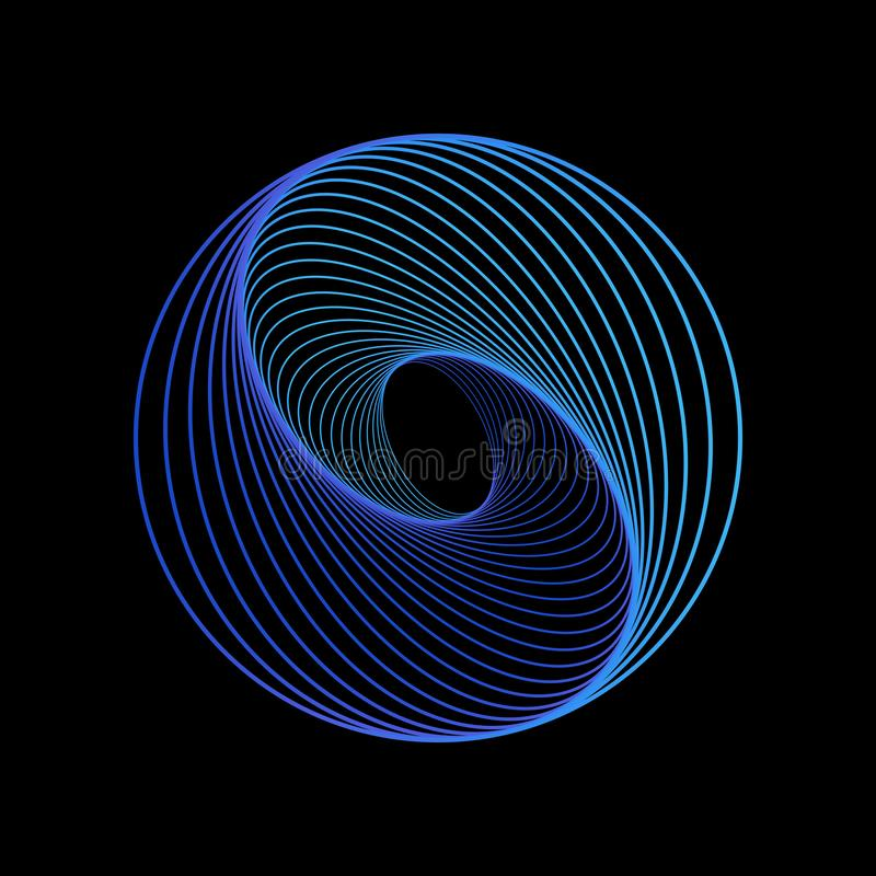 Сфера абстрактной технологии на голубой предпосылке r иллюстрация вектора