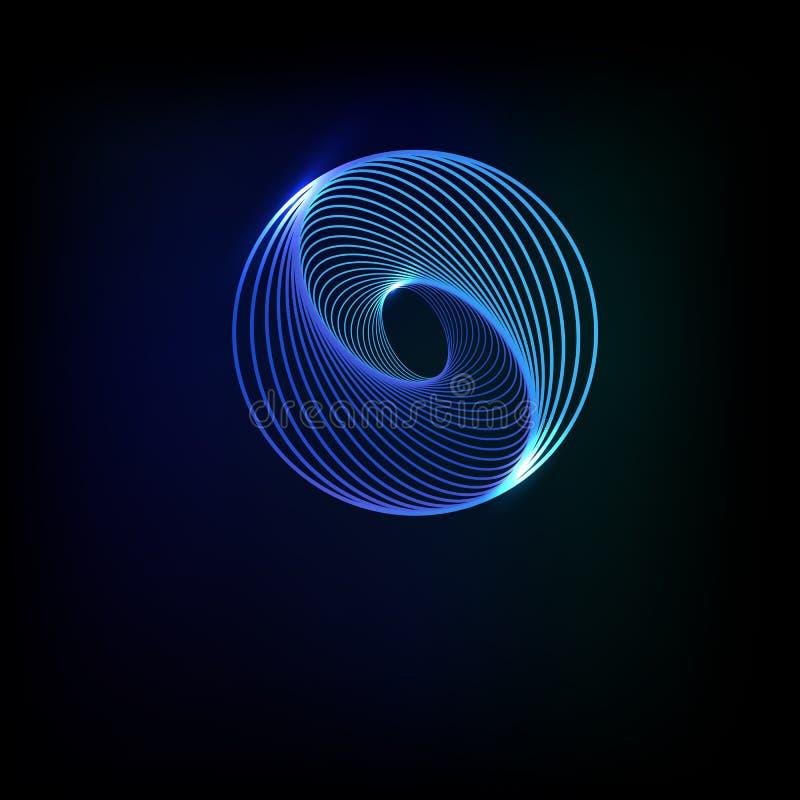 Сфера абстрактной технологии на голубой предпосылке r бесплатная иллюстрация
