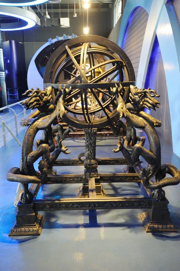 сфера армиллярной династии ming стоковая фотография