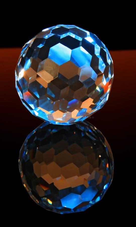 сфера волшебства отрезока кристалла стоковое изображение rf