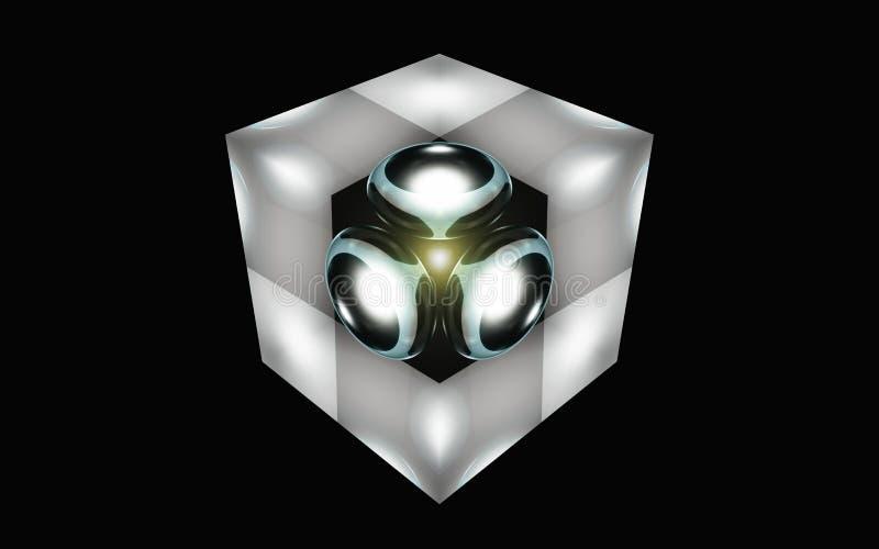 Сфера в кубе стоковые изображения