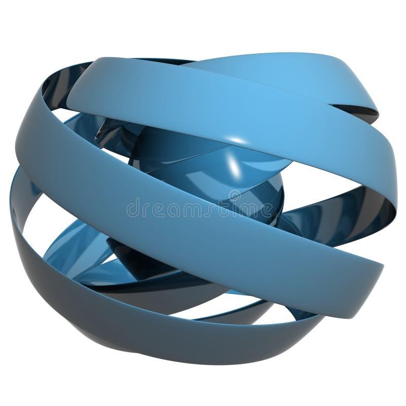 сфера голубой тесемки бесплатная иллюстрация