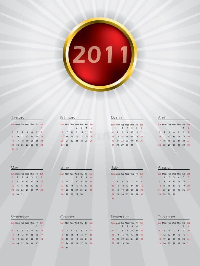 сфера конструкции 2011 календара иллюстрация вектора