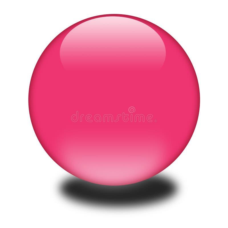 сфера покрашенная 3d розовая иллюстрация вектора