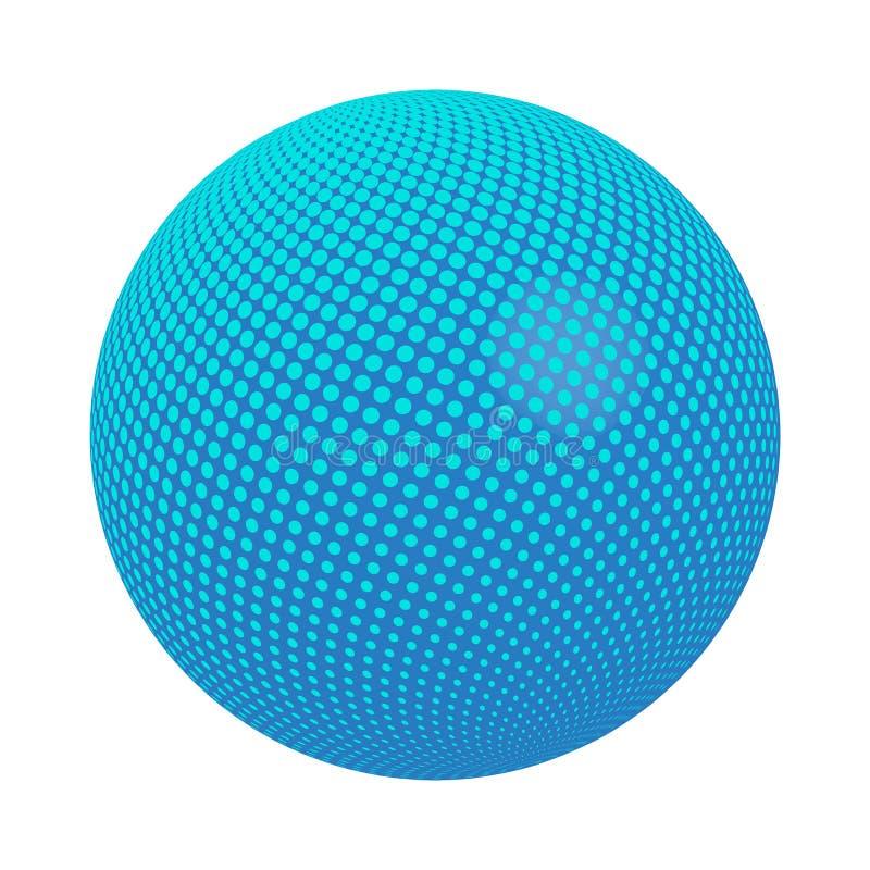 Сфера с вектором точек иллюстрация штока