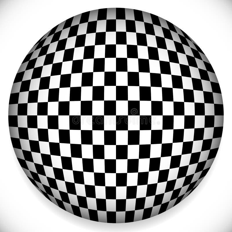 Сфера с Checkered картиной иллюстрация вектора