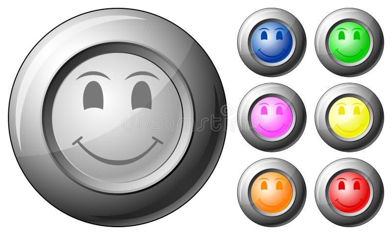 сфера усмешки кнопки иллюстрация вектора