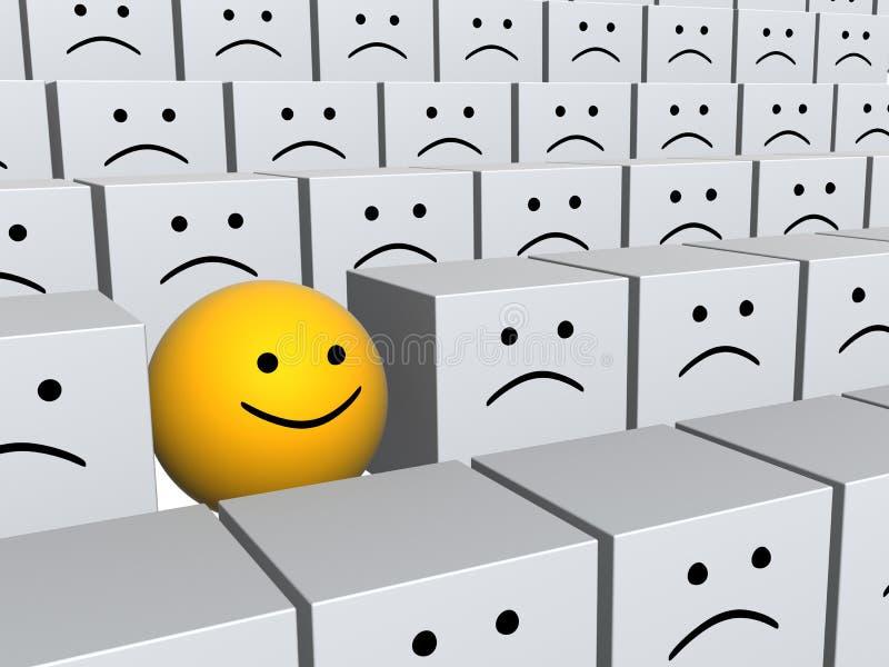 сфера усмешки рядка коробок яркая серая бесплатная иллюстрация