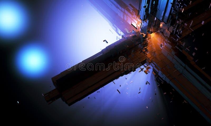 Сфера 3d Dyson крупного плана бесплатная иллюстрация