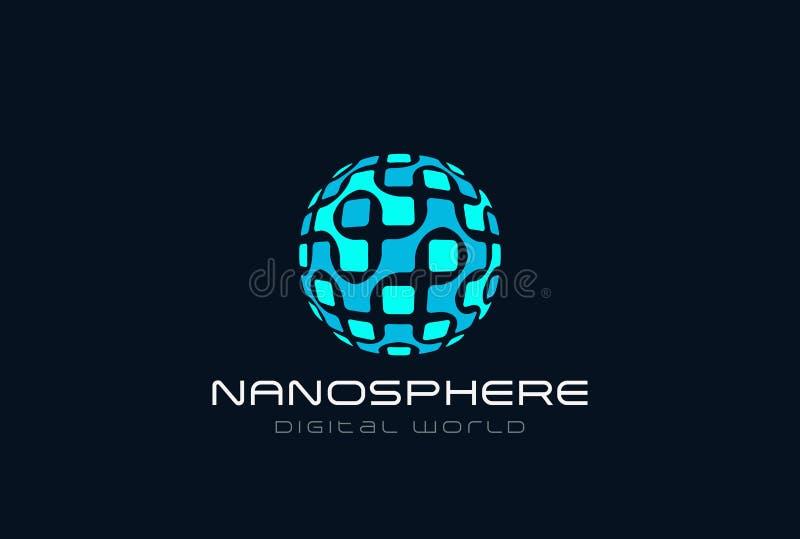 Сфера Lo электроники дна нанотехнологии молекулярная бесплатная иллюстрация