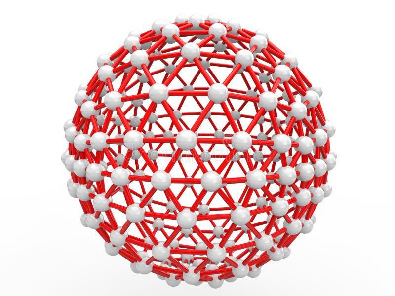 сферически научная геометрическая структура 3d иллюстрация вектора