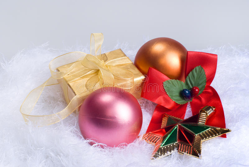 сферы подарка рождества стоковые фото