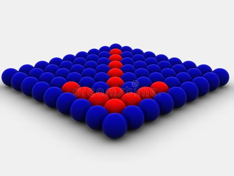 сферы стрелки иллюстрация вектора