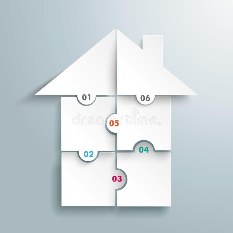 Сферы Infographic головоломки дома иллюстрация вектора