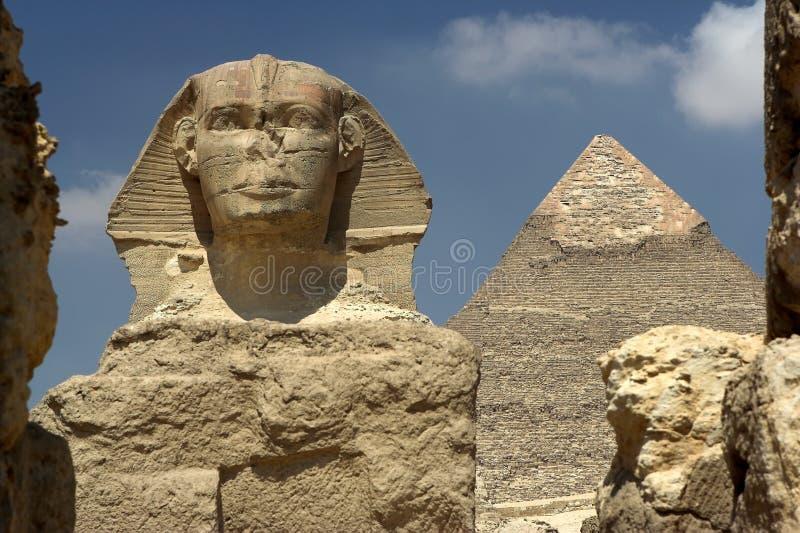 сфинкс Каира Египета стоковое изображение rf