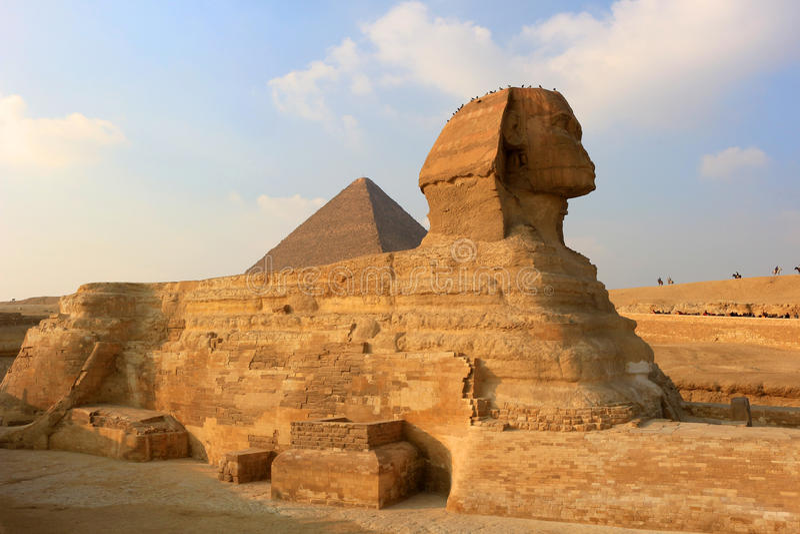Сфинкс на Гизе, Египете стоковая фотография rf