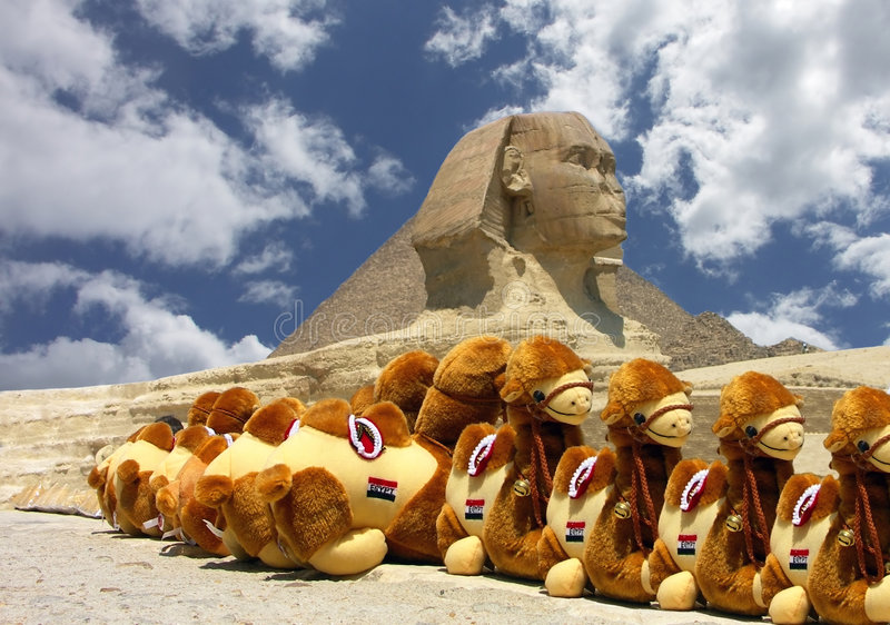 сфинкс пирамидки стоковое фото