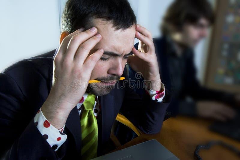 сфокусированный бизнесмен стоковые фотографии rf