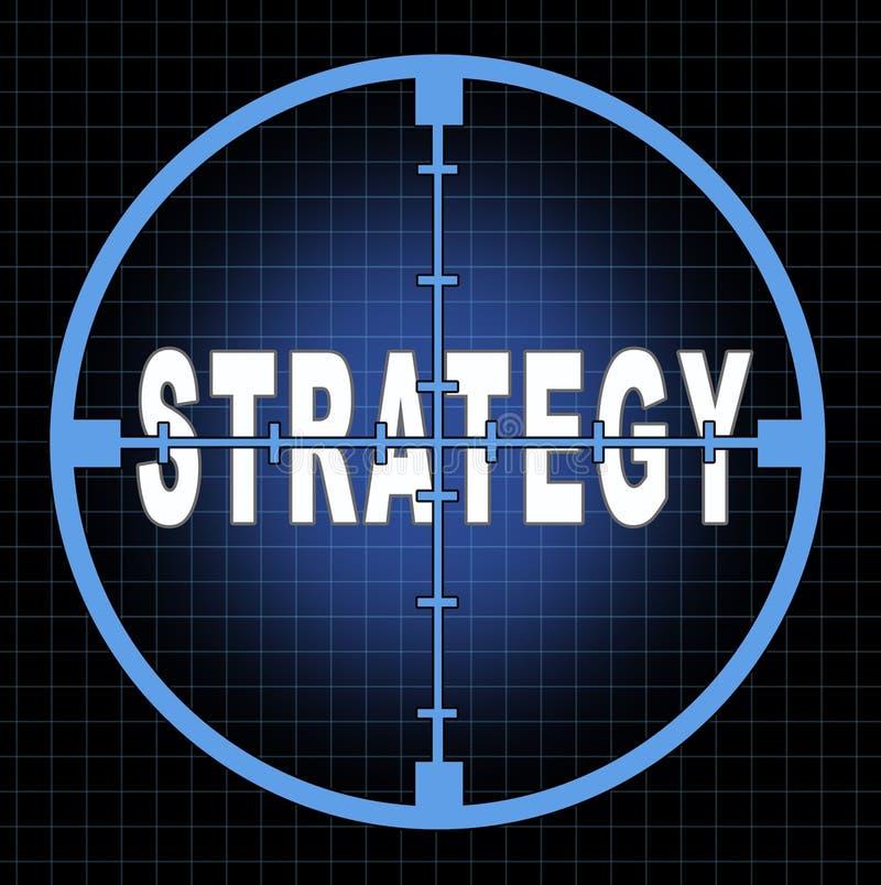 сфокусируйте стратегию иллюстрация вектора