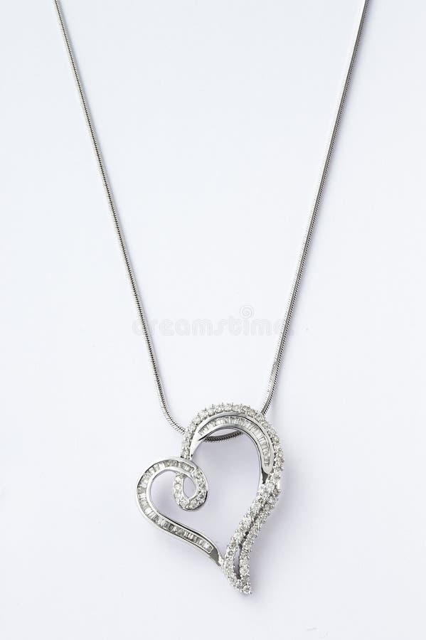 сформированное ожерелье сердца стоковое фото rf