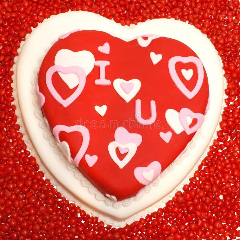 сформированное сердце торта стоковые фотографии rf