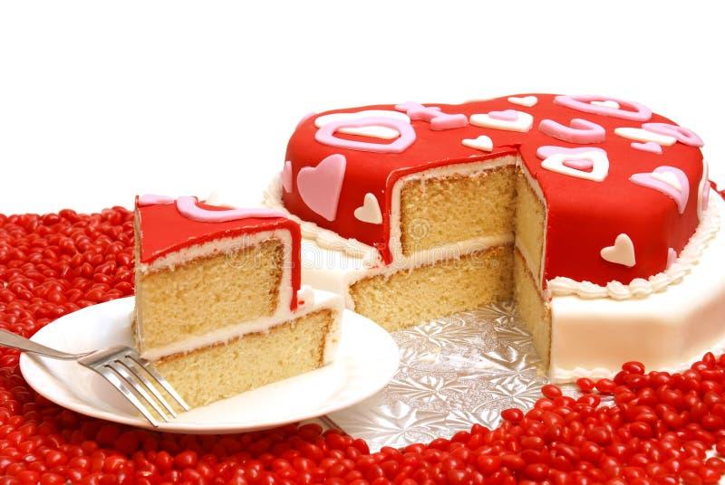 сформированное сердце торта стоковые фото