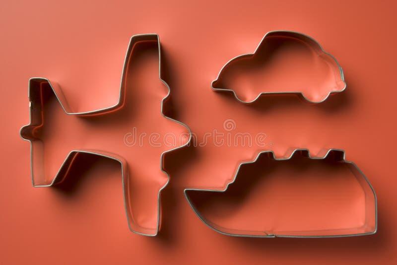 сформированные резцы печенья самолета стоковые изображения rf