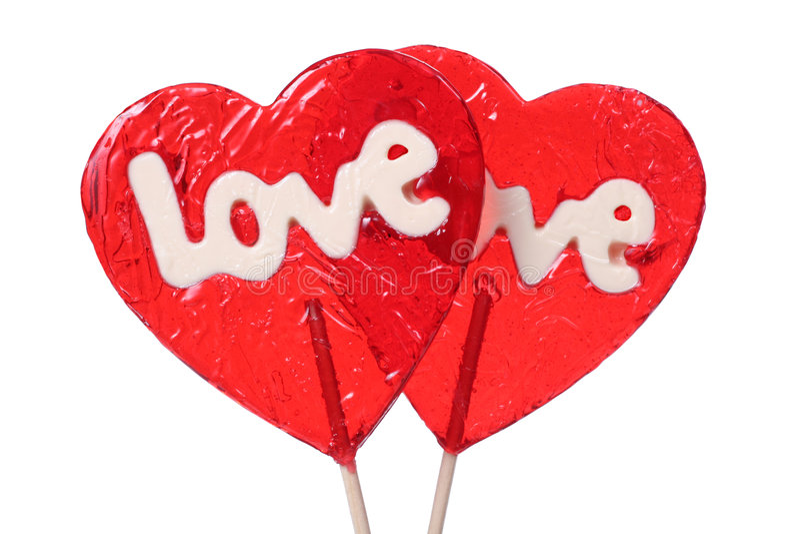 сформированные lollipops сердца стоковые фотографии rf