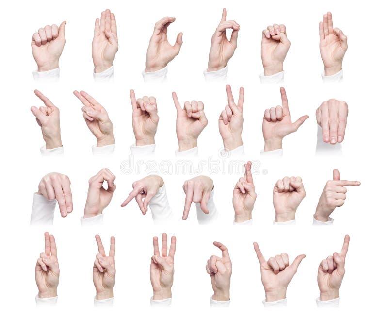 сформированный алфавитом знак языка стоковая фотография