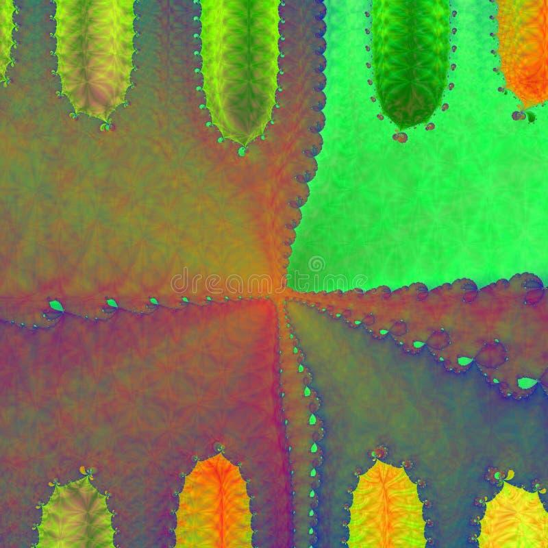 сформированный кактус предпосылки иллюстрация вектора