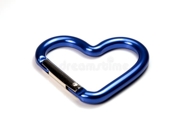 сформированный металл замка сердца стоковое изображение rf