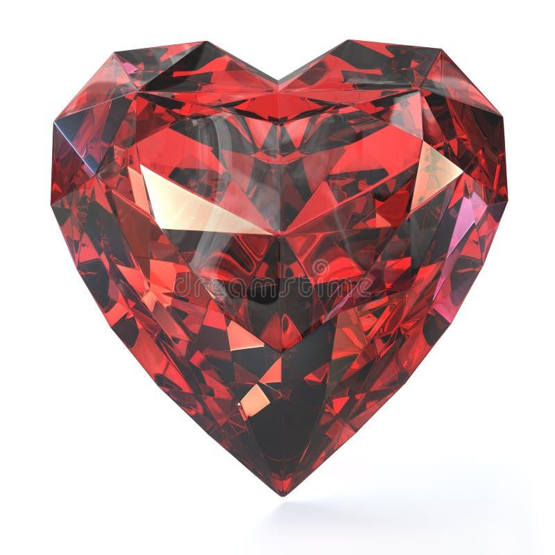 сформированный рубин сердца стоковое изображение
