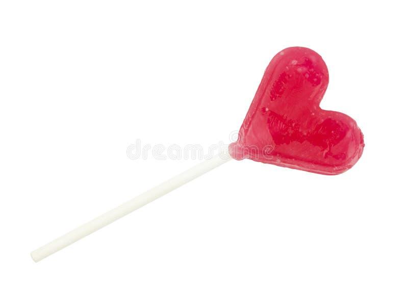 сформированный lollipop сердца стоковое фото
