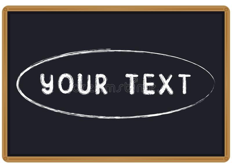 Сформулируйте ваш мел текста написанный на классн классном иллюстрация штока