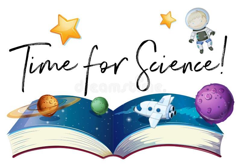 Сформулируйте время для науки с планетами в галактике бесплатная иллюстрация