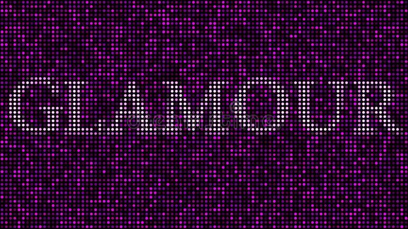 Сформулируйте ОЧАРОВАНИЕ среди розовых и фиолетовых точек, иллюстрации иллюстрация вектора