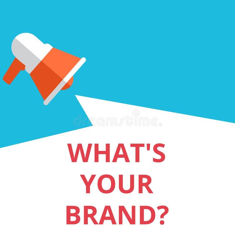 Сформулируйте текст сочинительства какой s ваш вопрос о бренда иллюстрация вектора