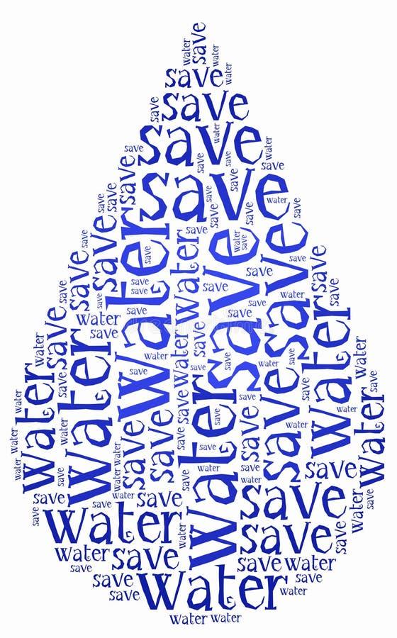 Сформулируйте день воды мира облака или намочите связанный сохранять бесплатная иллюстрация