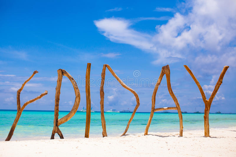 Сформулируйте пятницу сделанную из древесины на острове Boracay стоковая фотография