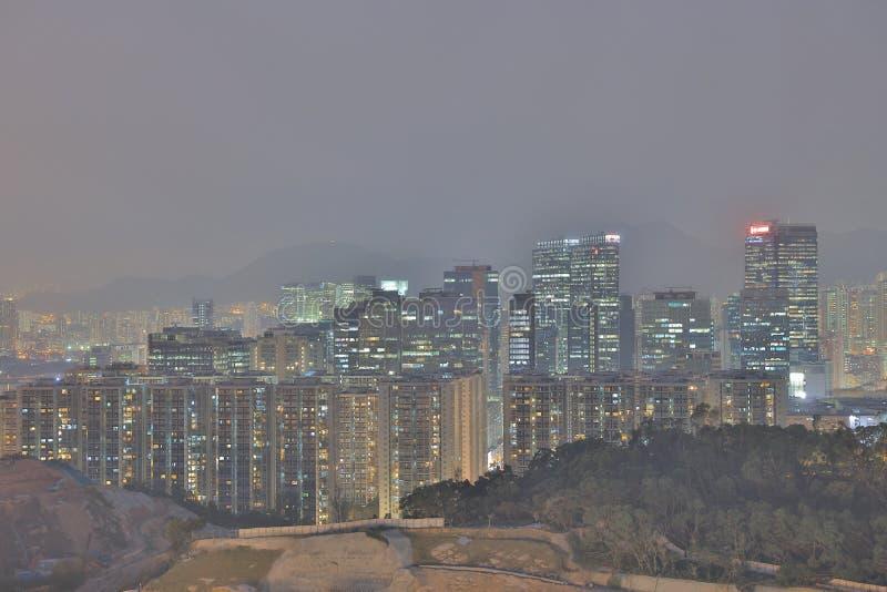 схват Kwun отвлекает, офисное здание горизонта стоковое изображение