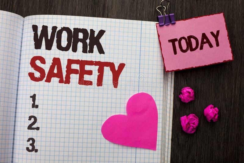 Схематическая безопасность работы показа сочинительства руки Safeness обеспечения предохранения от регулировок безопасностью пред стоковые изображения rf
