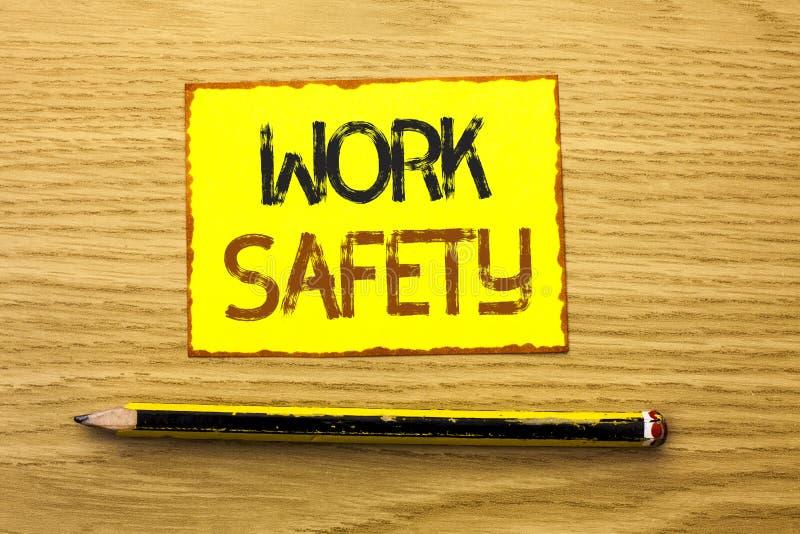 Схематическая безопасность работы показа сочинительства руки Safeness обеспечения предохранения от регулировок безопасностью пред стоковые изображения
