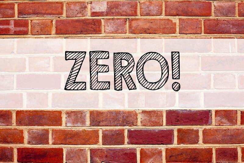 Схематическая воодушевленность титра текста объявления показывая нул Концепция дела для zero допуска Nought нулей написанного на  стоковое изображение rf