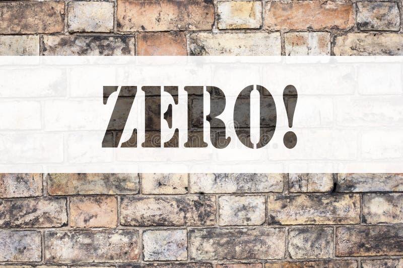 Схематическая воодушевленность титра текста объявления показывая нул Концепция дела для zero допуска Nought нулей написанного на  стоковая фотография rf