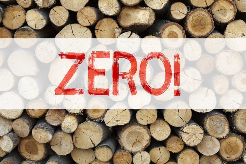 Схематическая воодушевленность титра текста объявления показывая zero концепцию дела для zero допуска Nought нулей написанного на стоковая фотография rf