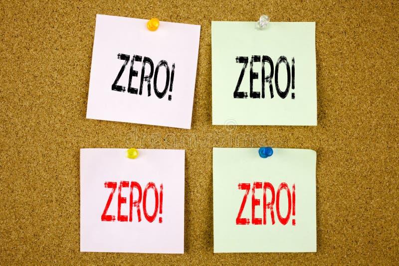 Схематическая воодушевленность титра текста сочинительства руки показывая zero концепцию дела для zero допуска Nought нулей на кр стоковое фото rf